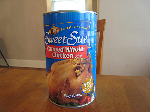 chicken can 1 Sweet Sue! Whole Chicken in a Can