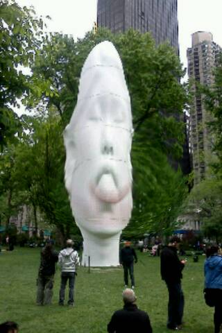 The%20Echo%20Sculpture%20 %20Madison%20Square%20Park%20NYC%20Fatbooth Halal Food Cart 5th Ave and 21st St