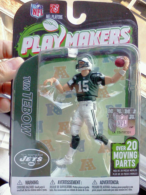 Tebow%20Action%20Figure Foodbloggging MetLife Stadium   Jets Preseason