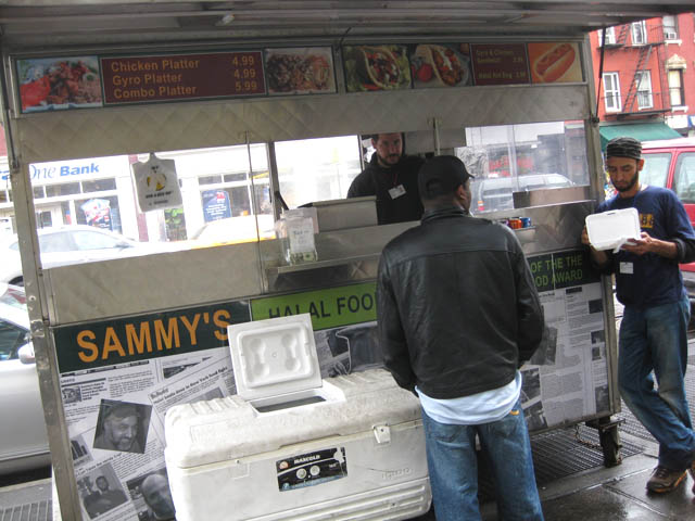 01 sammys halal cart on w 4th and 6th ave Sammy at Sammys