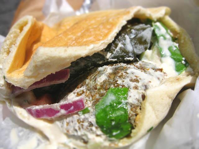 02 Fava Mediterranean Combo Pita sandwich
