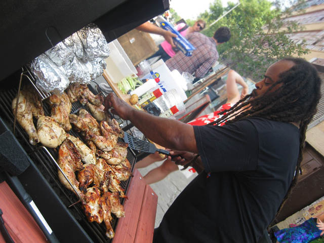 01 Grilling Jerk Chicken