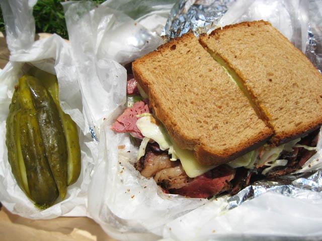 02 Eisenbergs Pastrami Roast Beef Swiss Slaw sandwich Eisenbergs Sandwich Shop