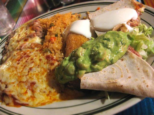 02 Tamales, Chile Relleno, Quesadilla Platter