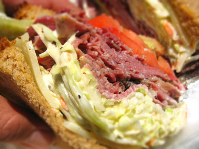 03 Eisenberg's Pastrami Roast Beef Swiss & Slaw sandwich