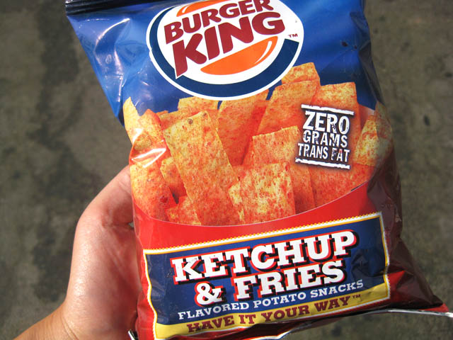 01 Burger King Ketchup Fries Chips Burger King Ketchup & Fries Chips