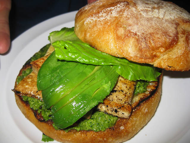 01 Tofu Pesto Sandwich at Pure Luck