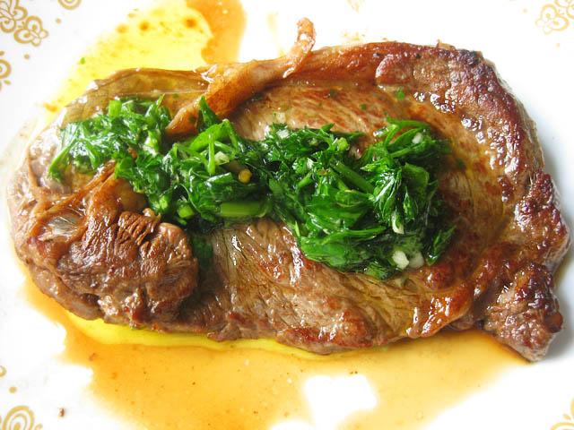 02 Ribeye Steak with Chimichurri