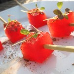 04 Peppered Watermelon cubes on a stick 150x150 Chef Jason Wilson of Crush Catering the Meet & Greet