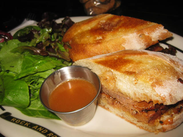 01 BBQ Beef Brisket sandwich - Brooklyn Bowl