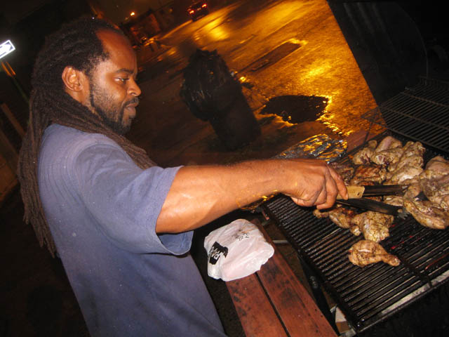 01 Junior grilling Jerk Chicken