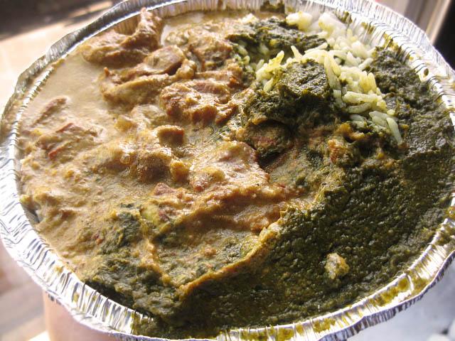 01 Lamb Korma and Saag Paneer - Sirtaj Indian