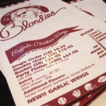 01 Blondie's NYC Menu
