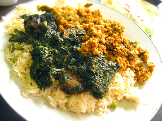 02 Pakistani - lamb palak ground chicken and bitter melon