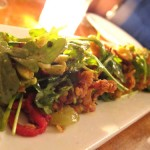 02 Calamar Cumin Crusted Squid Blistered Guindilla Peppers Baby Arugula Green Romesco Poco 150x150 Pocos NYE Dinner Menu