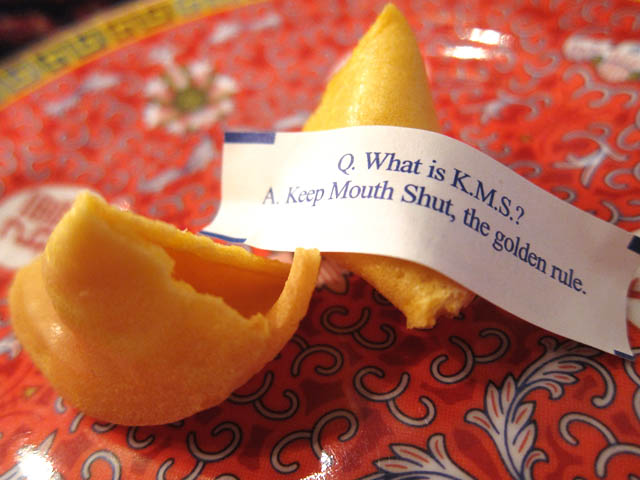 Keep Mouth Shut Fortune Cookie
