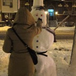 04 Snowman on Metropolitan Ave 150x150 Son of Sam ate at Sals Pizza
