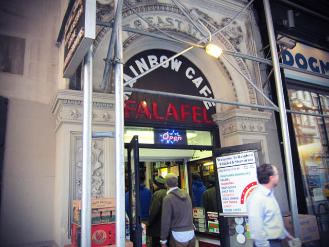 01 Rainbow Cafe Falafel NYC