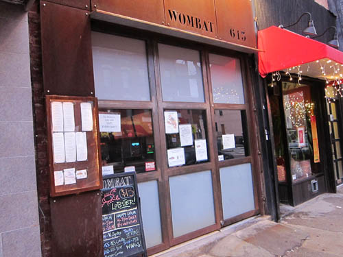 01 Wombat Restaurant Brooklyn