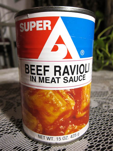 01 Super A canned Beef Ravioli in Meat Sauce