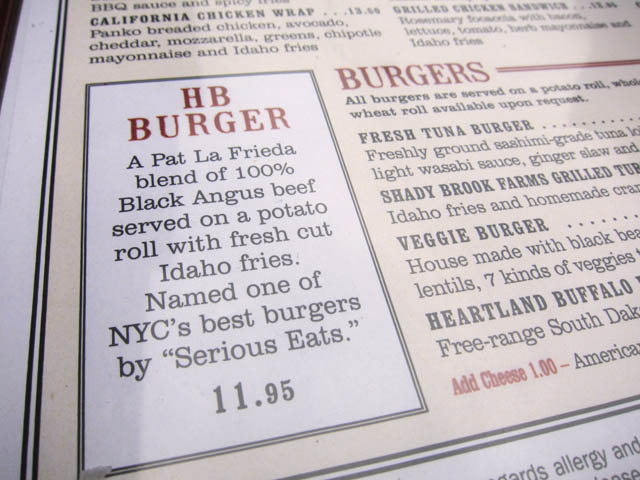 01 HB Burger on the menu