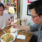 05 Jimmy and Brian noodle time 150x150 Flushing Golden Mall Food Stall Adventure