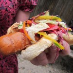 19 Tofu dog with Asian Slaw 150x150 MayDay Danger Party