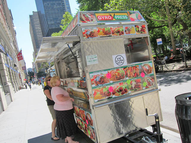 01 Gyro Press Halal Cart - E 26th St & 5th Ave NYC