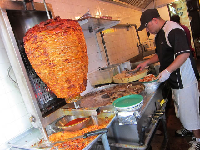 05 Cooking Meats at Taco Mix Restaurant Spanish Harlem Taco Adventure