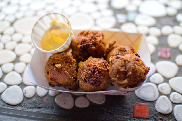 03 Smoked Cheddar 'N Green Onion Hush Puppies - Honeychiles'