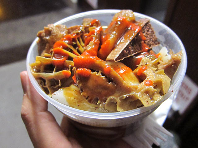 01 Cup of Beef Tripe and Noodles from the Chinese Cart on Grand and Bowery NYC