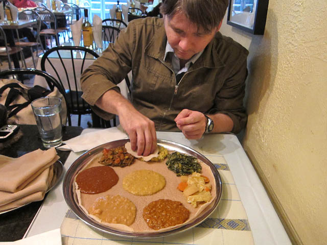 05 Darren Hanlon at Meskerem Ethiopian Restaurant Best Things I Ate in 2010