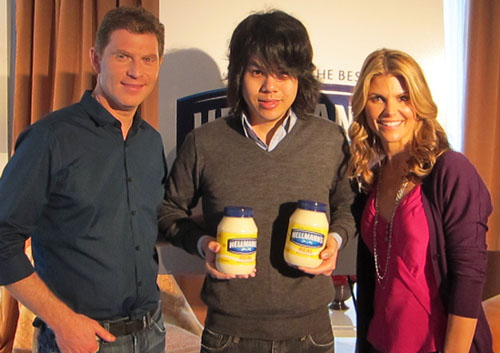 Bobby Flay Jason Lam Lori Loughlin Bobby Flays Holiday Recipes with Hellmanns Mayonnaise