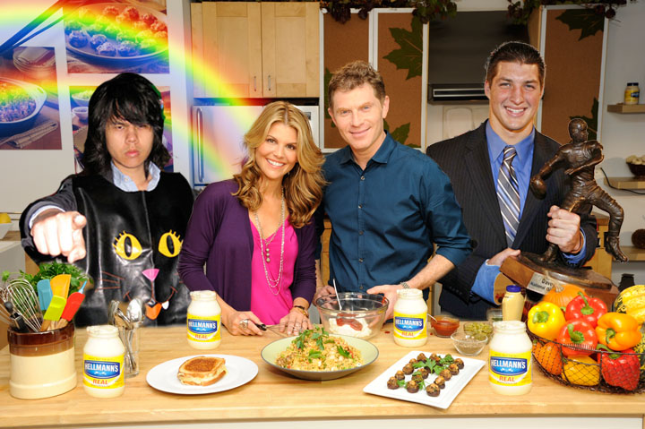 Chef Bobby Flay And Actress/Mom Lori Loughlin Team Up With Hellmann's Mayonnaise For The Holiday Season