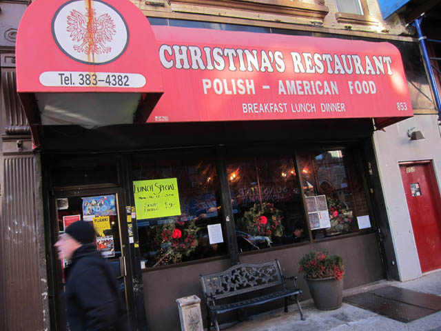 01 Christina's Restaurant - Polish Greenpoint