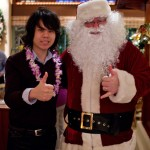 02 Jason Lam and Santa Claus 150x150 Christmas Buffet at the Islands Dining Room at Royal Pacific Resort at Universal Studios