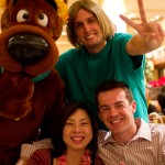 09 Jennifer and Richard and Scooby 150x150 Christmas Buffet at the Islands Dining Room at Royal Pacific Resort at Universal Studios