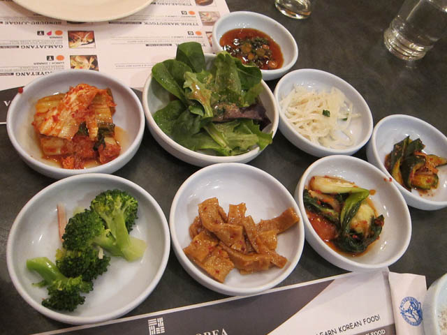 01 Korean Banchan side dishes - Kang Suh Restaurant