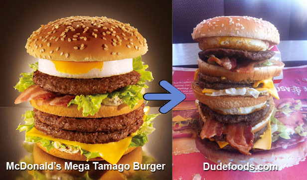 dudefoods mega tamago burger This Week in Crazy Burgers