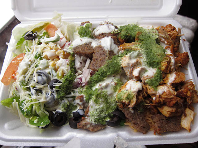 Rafiqis Halal Cart Lamb and Chicken over Rice I Really Like Rafiqis on Six!