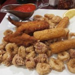 05 Appetizer Sampler Platter - Calamari Mozzarella Sticks Chicken Fingers - Carmine's