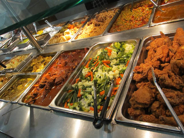 02 B Amp B African Buffet Bar And Plates Me So Hungry