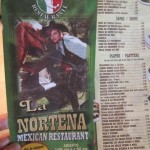 05 La Norteña Restaurant menu