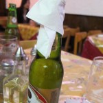 07 Napkin on a beer 150x150 Oxtail and Roast Pork at El Castillo De Jagua