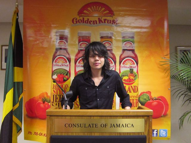 Jason Lam Golden Krust Jamaican Consulate NYC Golden Krusts New Bottled Sauces