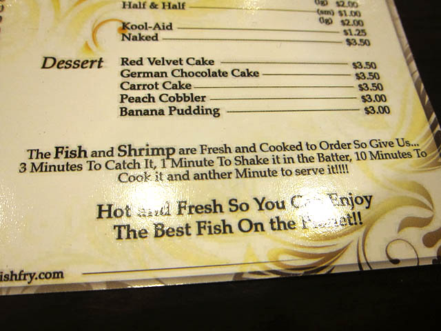03 Bed-Stuy Fish Fry menu