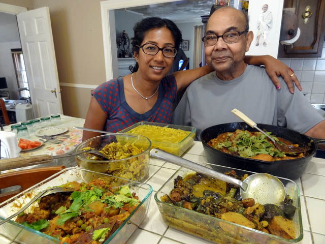 01 Shonali's Parents' Indian food