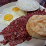 07 Corned Beef Hash - Eggs - Grits - Biscuit - Clary's