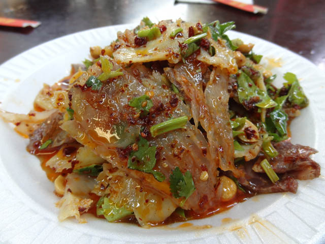 01 Beef Tripe with Hot Pepper Sauce - Cheng Du Tian Fu