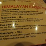 02 Exotic Food Menu - Himalayan Yak